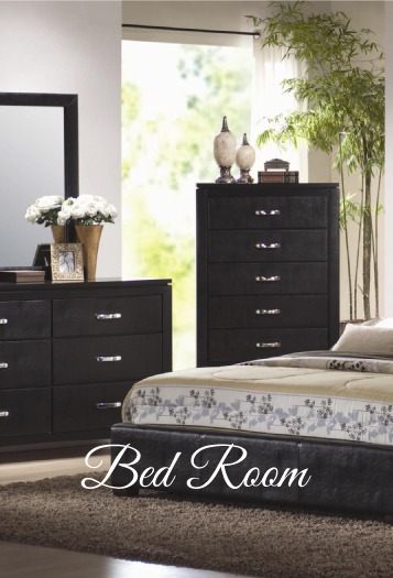 Picture of a gorgeously set up bed room with dressers..