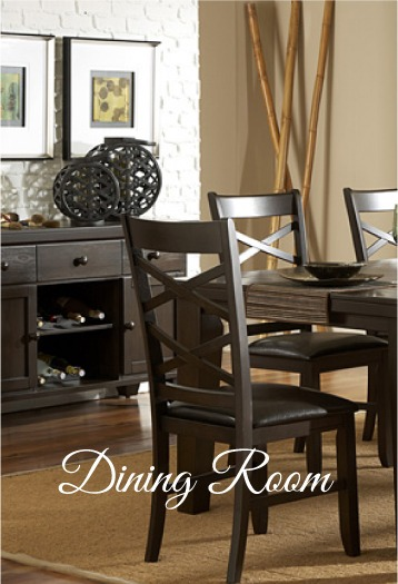Picture of a modern looking dining room with decorations.