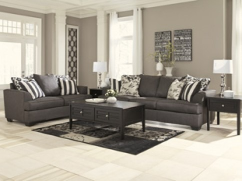 Levon Charcoal Sofa scene